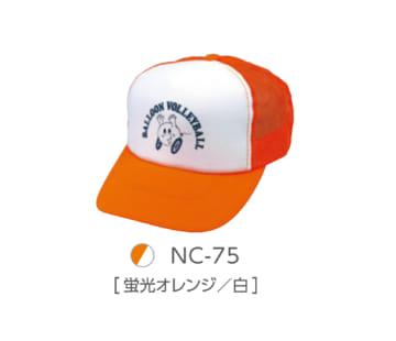 75 蛍光オレンジ×白