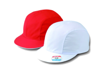 ツイル紅白体操帽 風船型(アゴゴム付)