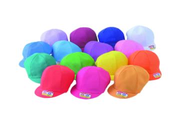 N#42 カラー園児帽 ニット 裏面白(アゴゴム付)