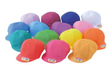 N#40 カラー園児帽 ニット 庇共色(アゴゴム付)