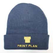 刺繍 ニット帽 事例