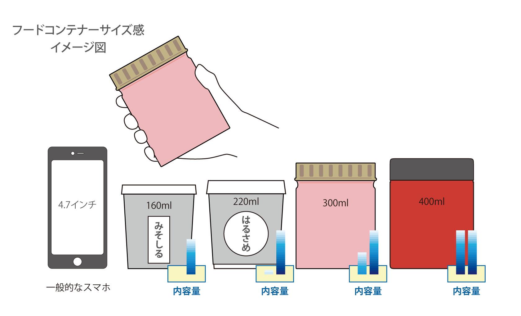 フードコンテナーサイズ感 イメージ図