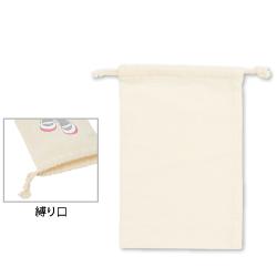 コットン巾着 M ナチュラル