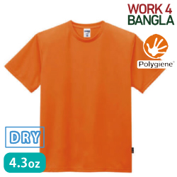 4.3オンスドライTシャツ ポリジン加工