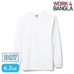 6.2オンスヘビーウェイトロングスリーブTシャツ ホワイト